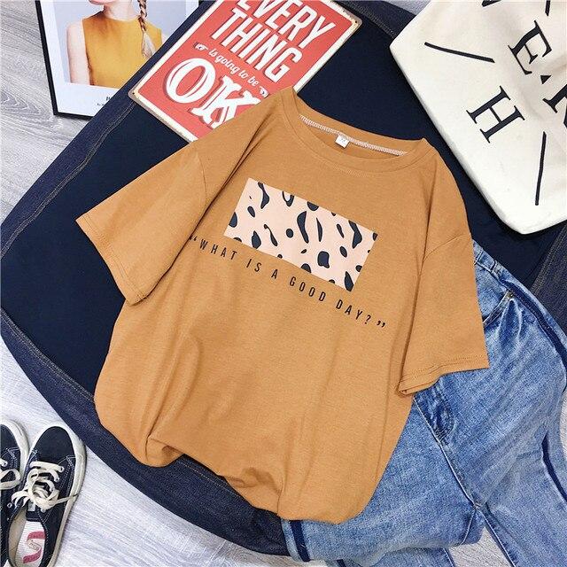 Hirsionsan Leopard Print T shirts Women 2019 Spring Summer Hot Tees Casual O-Neck Short Sleeve Harajuku Cool T-shirt Female Tops 8