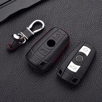 4D Echtem Leder Schlüssel Abdeckung Fall Tasche Für BMW 1 3 5 6 7 SERIE X1 X5 X6 E90 E92 e93 Smart Auto Fernbedienung Schlüssel Halter|Schlüsseletui für Auto|Kraftfahrzeuge und Motorräder -