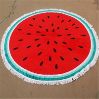 Printed Beach Towel 100 Cotton Round Tassel Large Drap De Plage Havlu Camping Luxury Quick Dry Summer Pool Towel Beach DDC312