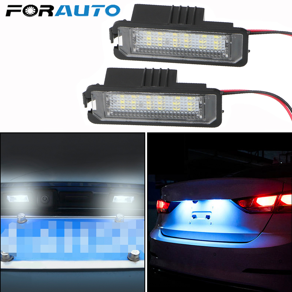 2x Auto <font><b>Light</b></font> For <font><b>VW</b></font> GTI <font><b>MK5</b></font> MK6 MK7 <font><b>Golf</b></font> 5 Glof 6 <font><b>Golf</b></font> 7 Xenon White <font><b>Led</b></font> Number License Plate <font><b>Light</b></font> Kit Canbus Error Free image
