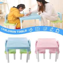 Children Folding Table Chairs Set Kids Gaming Learning Tables Chair Plastic Table Cute Toy Game Table Desk for Girs Boys