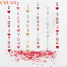 Banner You-Paper-Garlands Table Wedding-Decoration Valentine LOVE Confetti Hanging-String