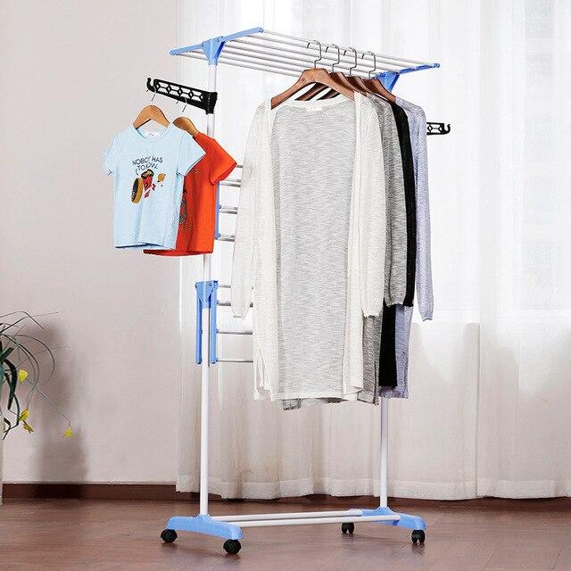 GIANTEX Clothes Hanger Coat Rack Floor Hanger Storage Wardrobe Clothing Drying Racks porte manteau kledingrek perchero de pie 1
