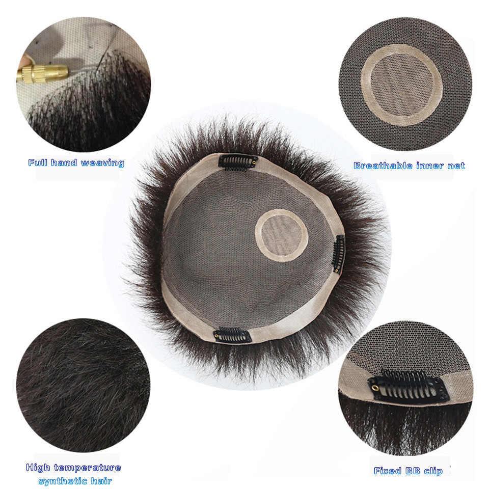 WTB Топпер зажим для парика клип в одной части волос удлиняющие синтетические прическа с челкой для мужчин натуральный черный Мода Airpalne