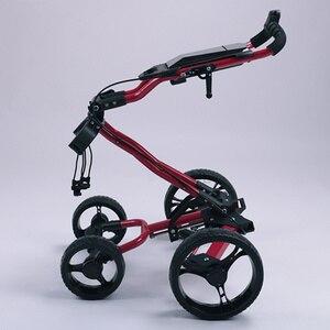 Image 3 - JayCreer chariot de Golf Portable pliable avec 4 roues, couleur noire, couleur aléatoire