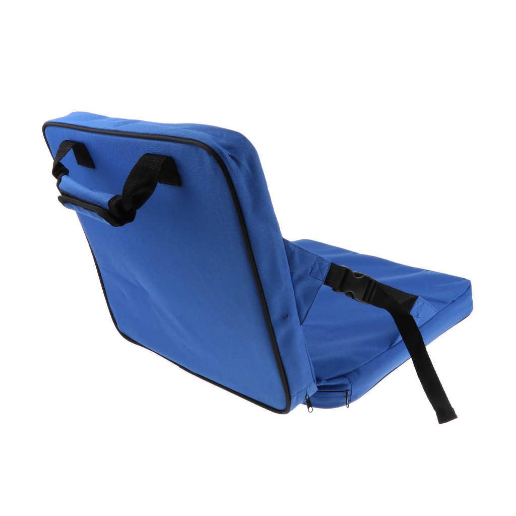 Asiento de estadio reclinable, silla con gradas plegable de transporte con soporte trasero para gradas, jardines traseros, Camping, pesca, TraveAcce
