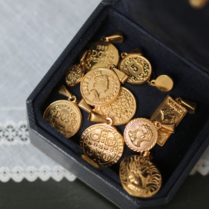 Кулон ручной работы с медальоном из титановой стали GHIDBK, кулон с медальоном из тонкой текстурированной кожи