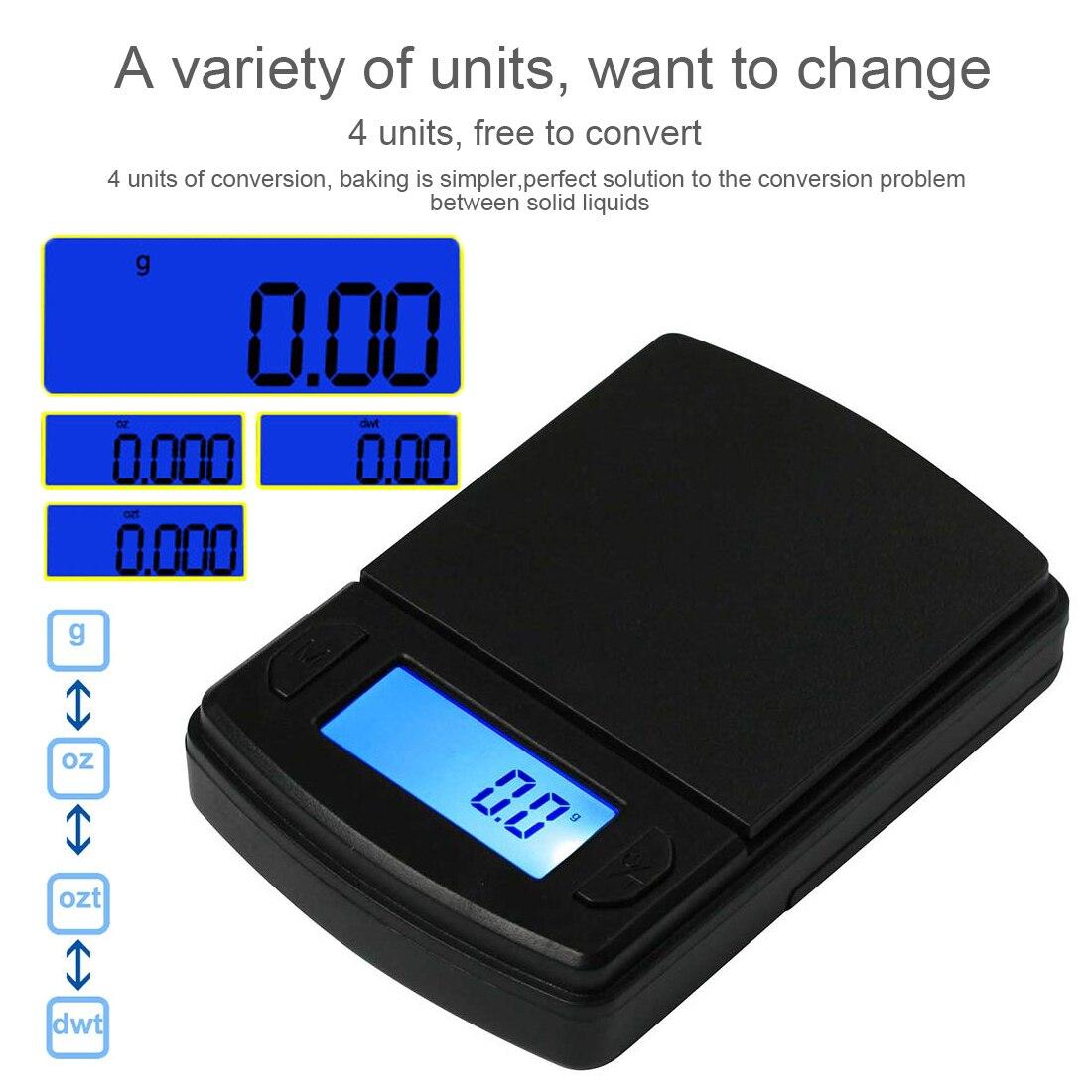 Мини цифровые весы 500 г/200 г/100 г Карманные электронные весы с ЖК-дисплеем, кухонные весы для путешествий, ювелирные изделия