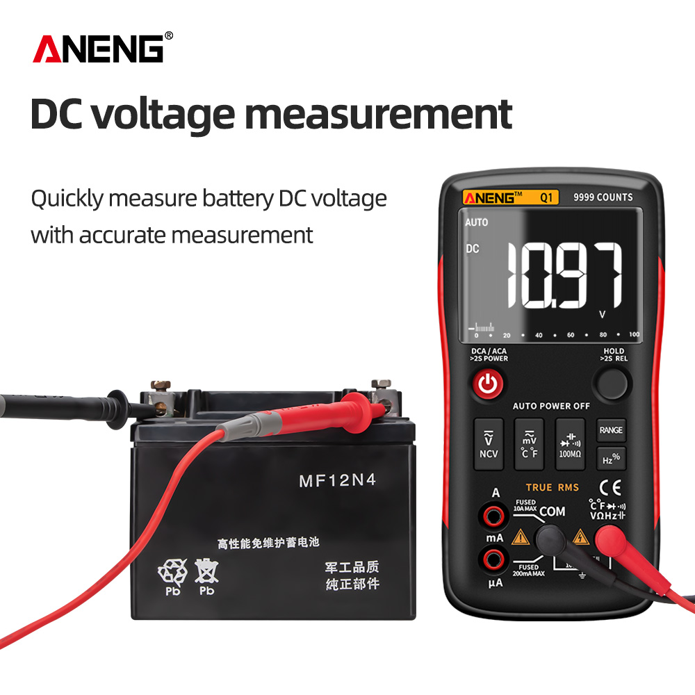 Tools : ANENG Q1 True-RMS Digital Multimeter Esrmeter Testers Automotive Electrical Dmm Transistor Peak Tester Meters Resistor