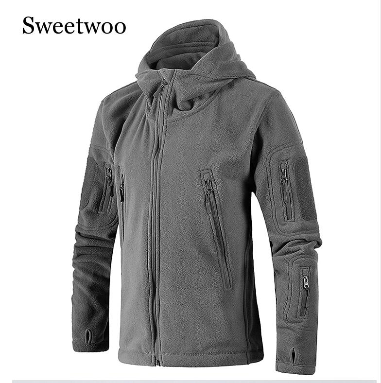 New Military Tactical Outdoor Soft Shell Fleece Jacket Men Army Polartec Sportswear Thermal Hunt Hiking Sport Hoodie Jackets in Hiking Jackets from Sports Entertainment