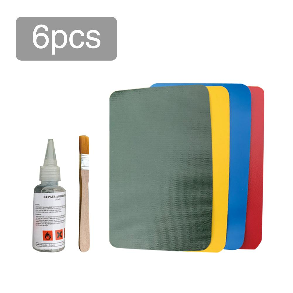 6pcs PVC Patch Repair Kit Repair Leather PU Patches Kit Set Accessory For Inflatable Raft Boat Canoe Kayak Swimming Ring Tool