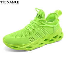 Amant baskets blanc chaussures 2020 mode grande taille 46 chaussures décontractées clair femmes course Sneaker respirant marche hommes chaussures vert(China)