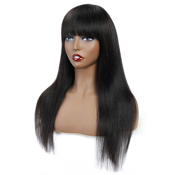 Alidoremi malaysian straight hair human hair wigs made machine 100 Human Hair Weave