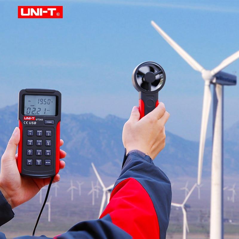 UNI-T UT361 UT362 Profession compteur de vitesse du vent numérique tachymètre Anemoscope 2-30 m/s anémomètre de Type divisé avec stockage de données - 3