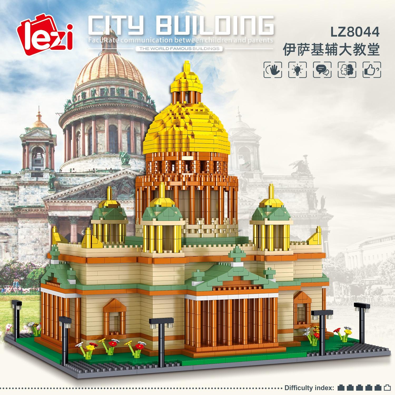 Balody World Famous Architecture Diamond Building Blocks Toy Taj Mahal Vassili Church Big Ben London Bridge 37