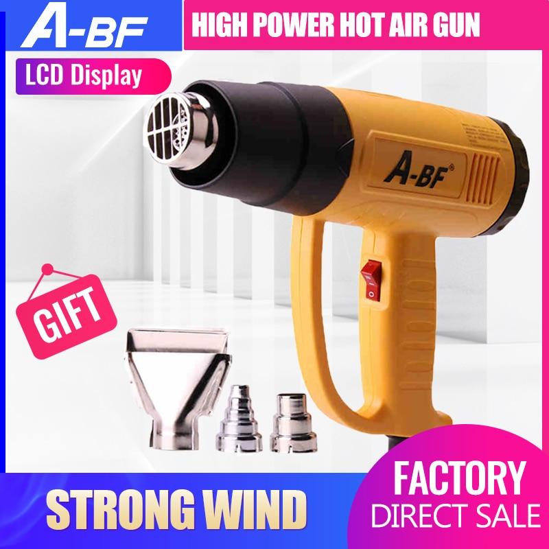 A-BF industriel thermorétractable pistolet affichage numérique pistolet à Air chaud en plastique torche de soudage chaud sèche-cheveux voiture feuille torréfaction 1600 W/2000 W
