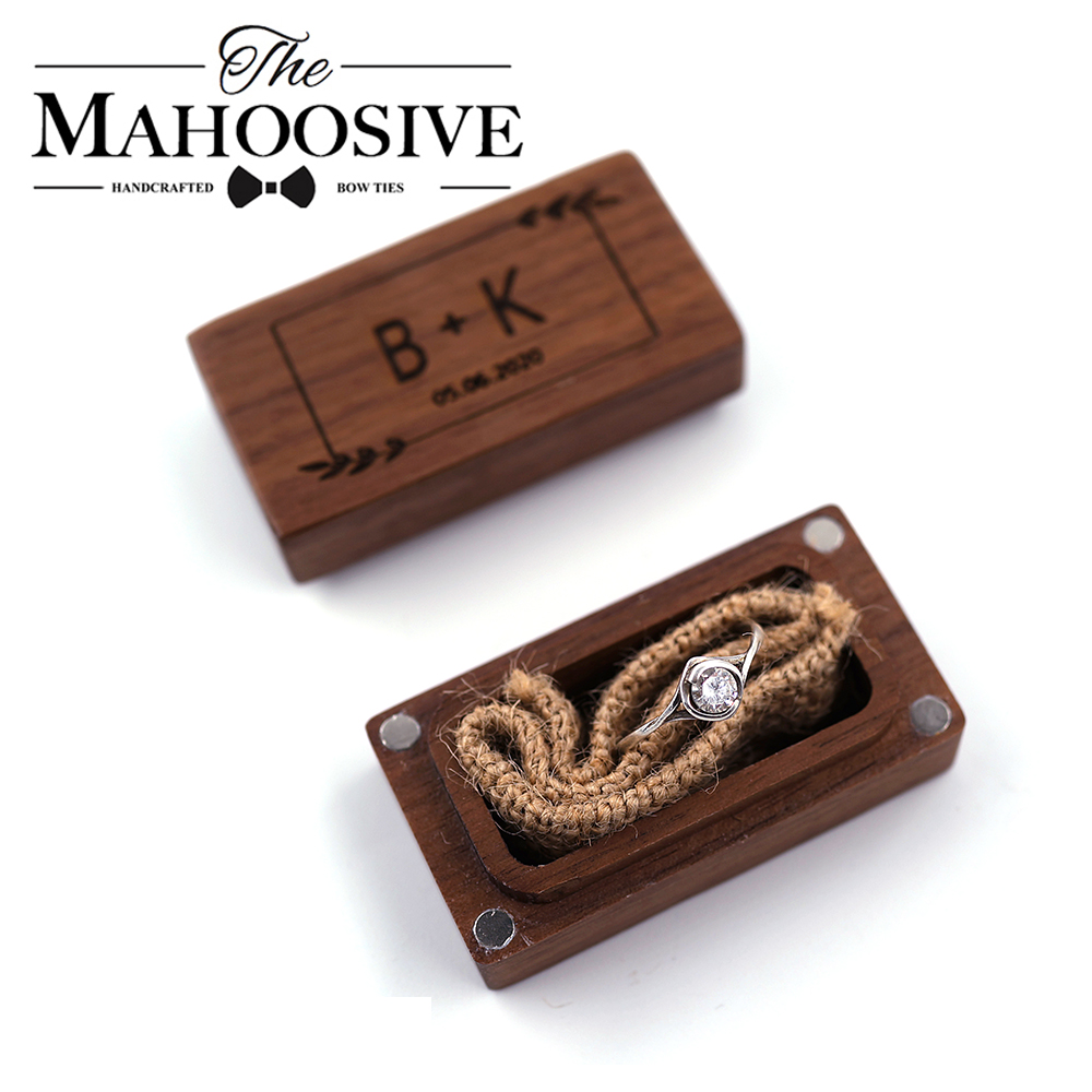 Wedding Personalized Custom Ring Box Rustic Wedding Ring Box,Wooden Ring Holder Ring Bearer Engagement Box