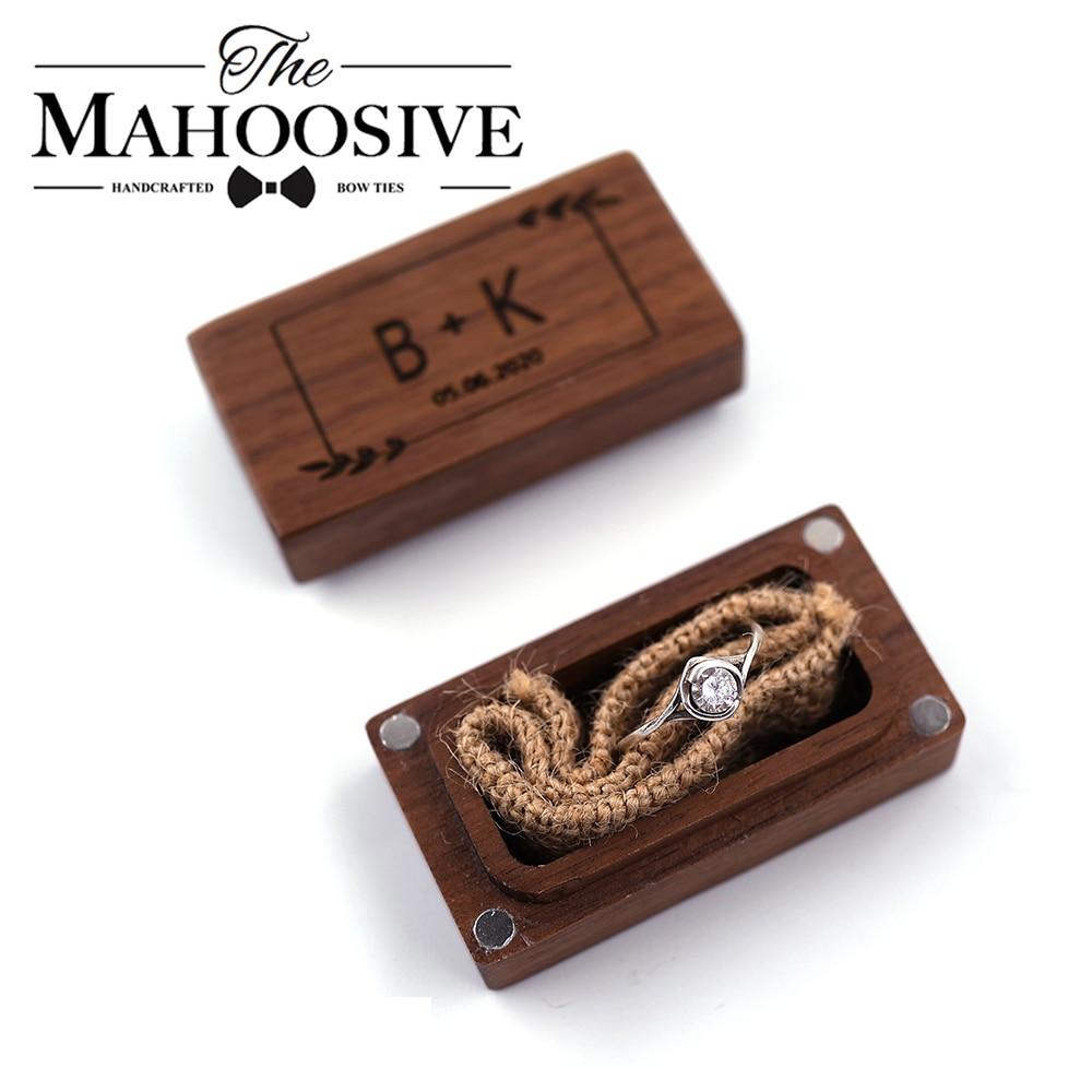Wedding Personalized Custom Ring Box Rustic Wedding Ring Box,Wooden Ring Holder Ring Bearer Engagement Box