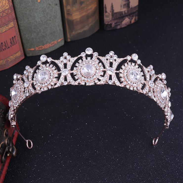 Water Drop Tiaras Crowns Rhinestones W// Hair Combs Wedding Bridal Pageant Prom