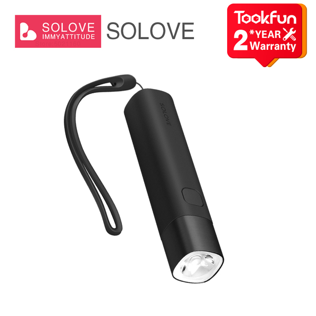 SOLOVE LED Flashlight X3 Portable Mobile power 2 in 1 Outdoor powerful flashlight bike torch SOS Type C charging night light