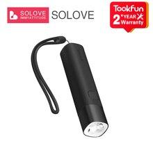 XIAOMI MIJIA светодиодный фонарик SOLOVE X3 портативная Мобильная мощность 2 в 1 уличный мощный фонарик велосипедный фонарь SOS ночник тип c