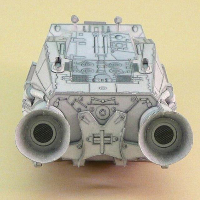 1:120 Scale Battlestar Galactica Colonial Shuttle DIY Handcraft Paper Model Kit 4