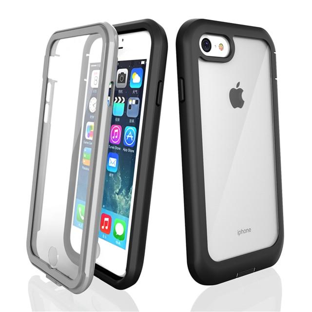 Case Voor Iphone 12 Pro Max 11 Pro Xr Xs 7 8 Effen Schokbestendig Siliconen Telefoon Case Screen Bescherm Case phone Case Clear Back Cover
