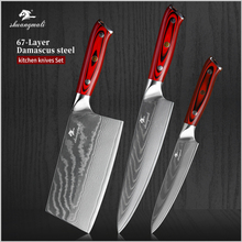 Knife-Set Slicing-Knives Cleaver Chef Paring Cooking Kitchen Utility Damascus-Pattern