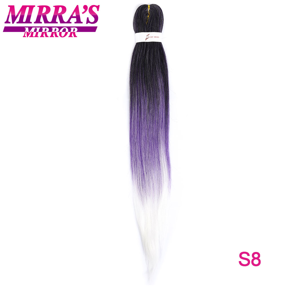 Mirra's Mirror EZ Pre Stretched Braiding Hair Synthetic Crochet Hair Extensions Professional Low Temperature Fiber