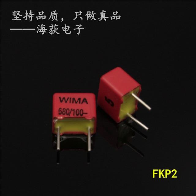 Bộ 50 Đỏ Mới Wima FKP2 680PF 100V 5% 100v680pf 681 0.68NF PCM5mm Âm Thanh Bán 680pf 100V