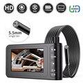 Камера для осмотра автомобиля, 1080P, 5,5 мм, IP67, с ЖК-экраном 4,3 дюйма