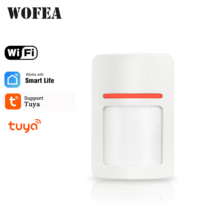 Wofea  APP Control WiFi PIR Motion Detector Alarm Sensor For Home Security Wireless Mini PIR Movement Sensor Tuya APP