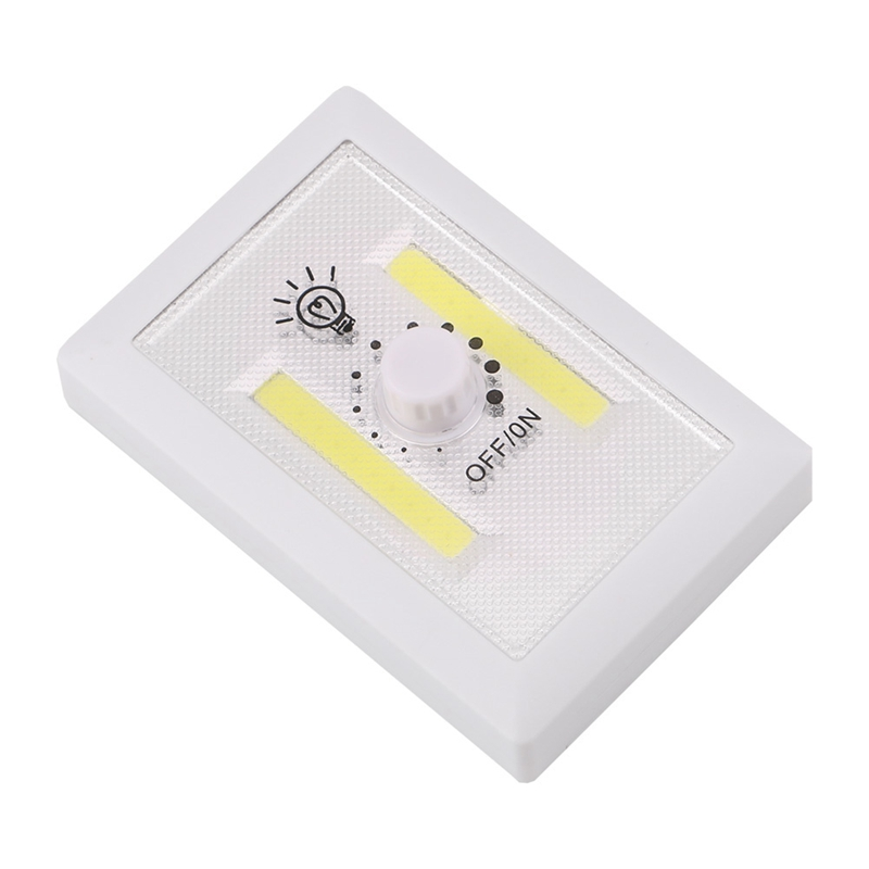 Ultra Bright COB LED Wall Night Light Magnetic Closet Lamp Battery Operated Adjustable Rotary Switch For Garage Closet
