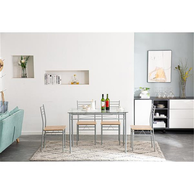Glass Dining Table and Chairs  5