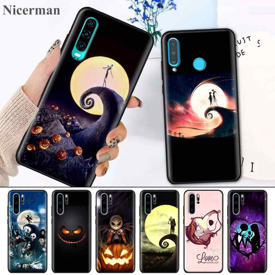 Silicone Case for Huawei P30 P20 P10 Mate 30 20 10 Lite Pro P Smart Z Plus 2019 Nova 5i Pro Nightmare Before Christmas halloween