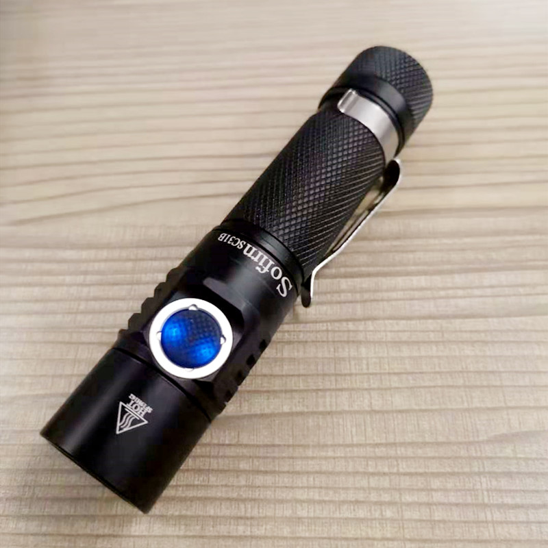 Sofirn New SC31B USB Rechargeable LED Flashlight 18650 Tactical USB Torch SST20 1000lm 5 Modes With Power Indicator 4000K 6500K