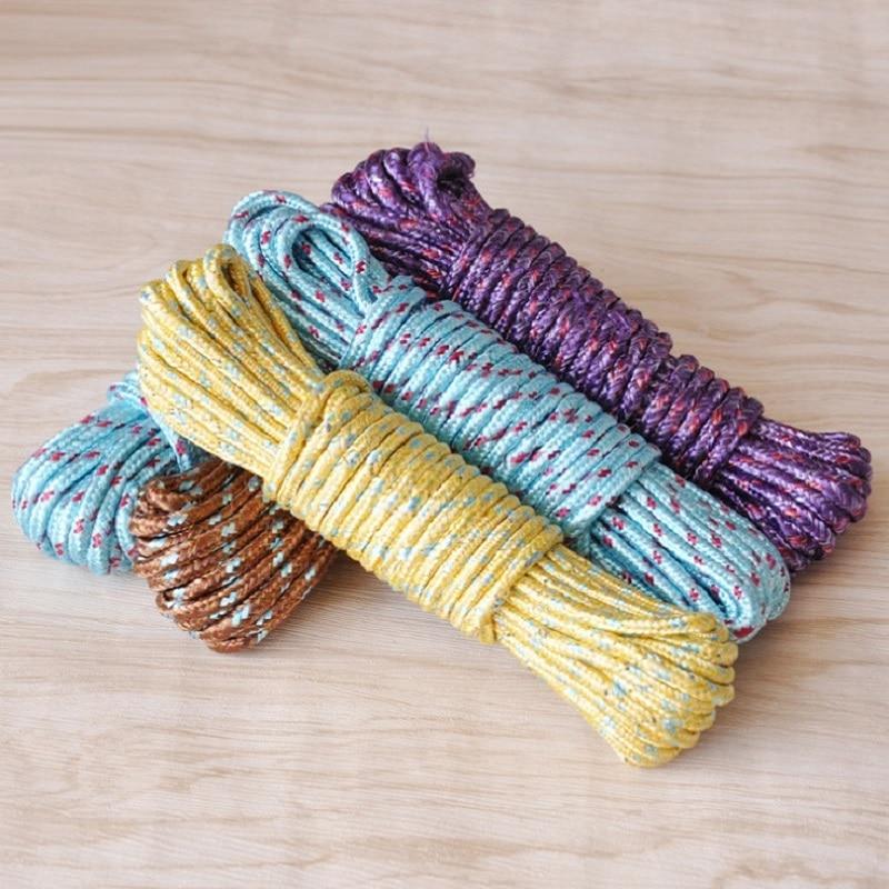 Новый дизайн 10 м красочные многофункциональные нейлоновые веревки для стирки одежды веревка для одежды 10 м вешалки и стойки GHMY