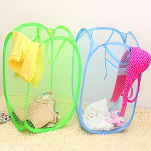 Network-well Multicolour Folding Laundry Basket Dirty Clothes/toy Storage Basket Finishing Basket