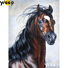 Full Square/Round drill diamond Painting Steed horse 5D DIY diamond embroidery mosaic Decoration painting AX0111 full square round drill diamond painting cat play wool 5d diy diamond embroidery mosaic decoration painting ax0111