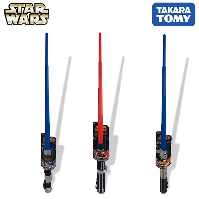 Takara Tomy Lightsaber Star Wars Toy Warrior Weapon Sound Flash Luminous Weapon Systolic Function Kids Toys