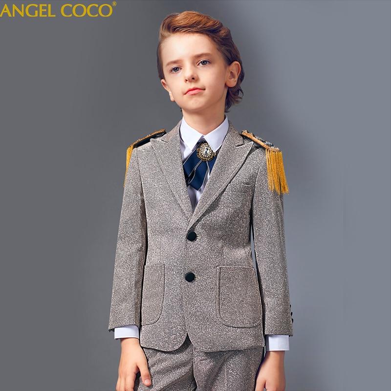Boys Suits For Weddings Flower Boys Spring Children's Day Chorus Show/Performance Blazer Suits Costume Enfant Garcon Mariage