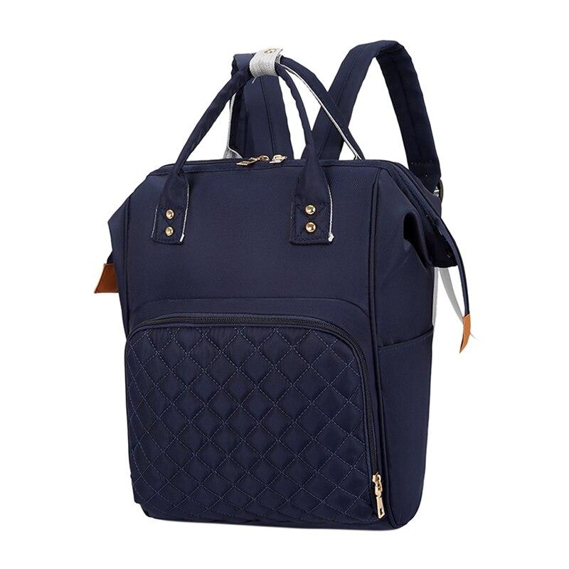 Многофункциональные сумки для мам, модный детский рюкзак, сумка для подгузников, сумка для новорожденных, органайзер для подгузников, переносные рюкзаки для подгузников, сумки для подгузников - Цвет: Navy blue