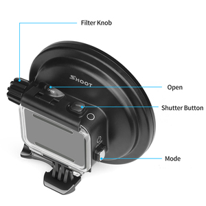 Image 2 - SHOOT for GoPro Hero 7 6 5 Accessories Waterproof Case with Red Filter Lens Underwater Housing Cover for Go Pro Hero 7 6 5 Black