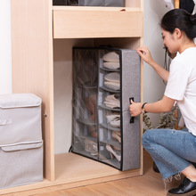 Transparent storage box shoe storage box anti-oxidation boots shoe cabinet drawer type foldable box under-bed storage box simple