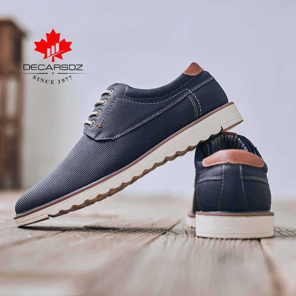 Giày Nam 2019 Thời Trang Thu Đông Chất Lượng Cao Cổ Giày Đi Bộ Nam Mới Giải Trí Giày Nam Thương Hiệu Bao Da Nam giày Thường