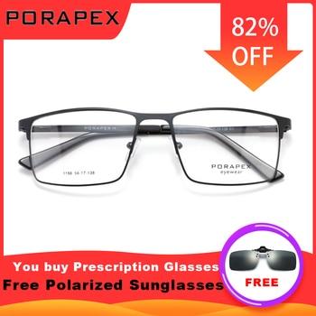 Titanium Alloy Optics Eyewear Prescription Eyeglasses Frame Men's Glasses Frame Fashion Classic Male Square Glasses Men Myopia