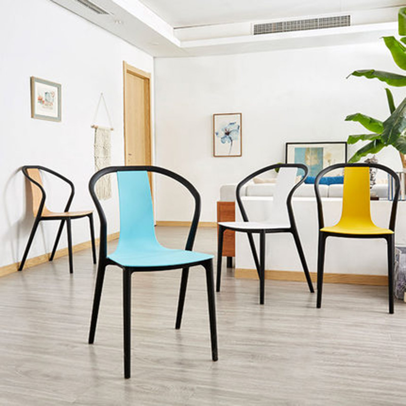 Modern Leisure Plastic Chair Dining Chairs For Dining Rooms Restaurant Furniture Outdoor Cafe Living Room Bedrooms Kitchen Chair