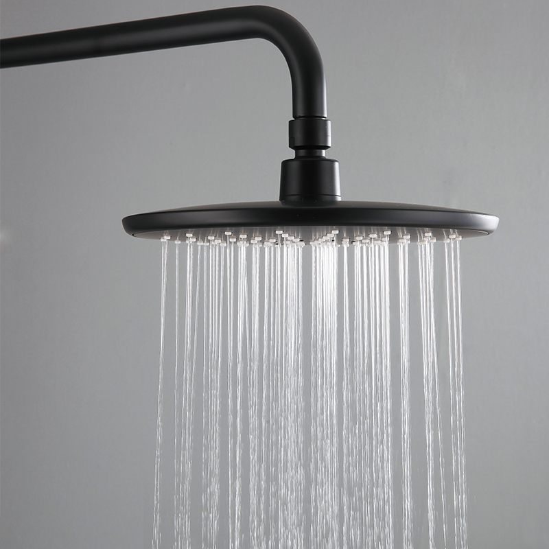 BECOLA matte balck shower head bathroom ABS plastic shower faucet fashion BLACK rainfall shower nozzle free shipping