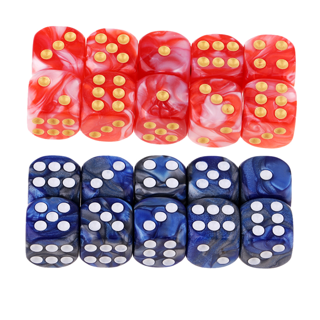 Pack of 20 Dice D6 RPG 16mm Orange Dice