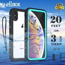 IP68 Túi Chống Nước Điện Thoại Cho iPhone 12 11 Pro Max X XR XS MAX Silicone Trong Suốt Dùng Cho Apple SE 8 7 6S Plus Viền Chống Sốc
